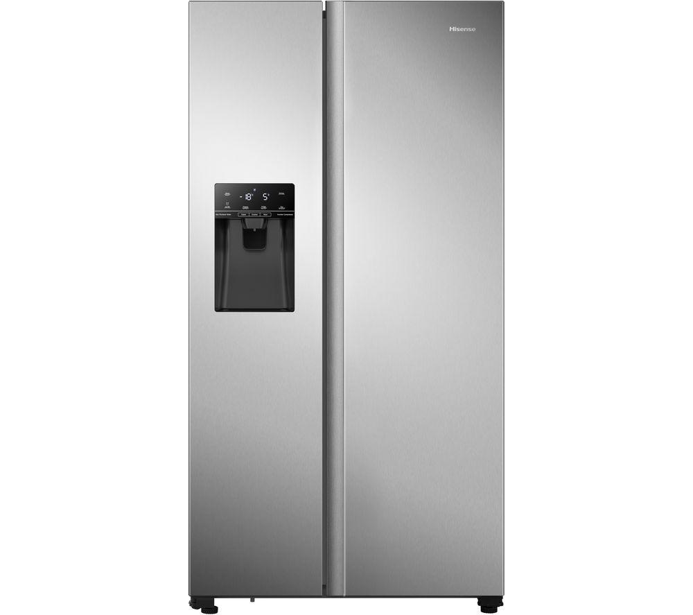 HISENSE RS694N4TCF American-Style Fridge Freezer - Stainless Steel, Stainless Steel