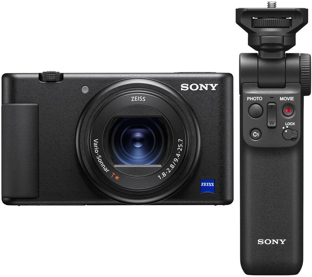 SONY ZV1 High Performance Compact Vlogging Camera & GP-VPT2BT Shooting Grip Bundle