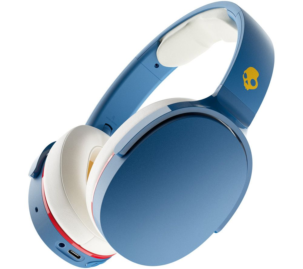 SKULLCANDY Hesh Evo Wireless Bluetooth Headphones - Blue & White, Blue
