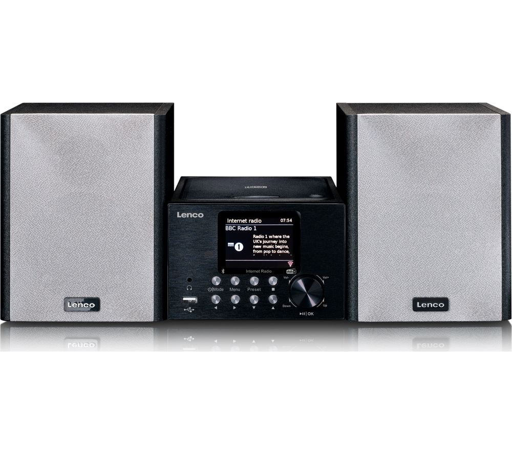 LENCO MC-250 Bluetooth Micro Hi-Fi System - Black