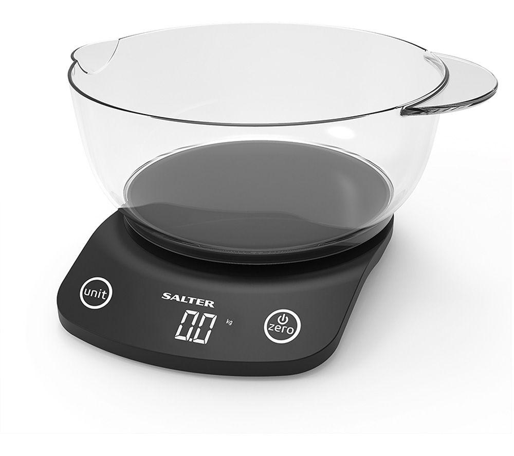 SALTER Vega 1074 BKDR Digital Kitchen Scales - Black