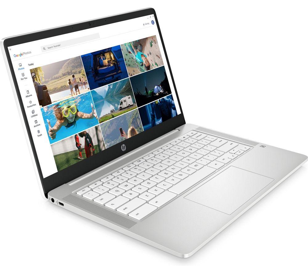 "HP 14a-na0509sa 14"" Chromebook - Intel® Pentium® Silver, 64 GB eMMC, White"
