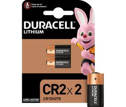 DURACELL Ultra Photo CR2 Lithium Batteries - Pack of 2