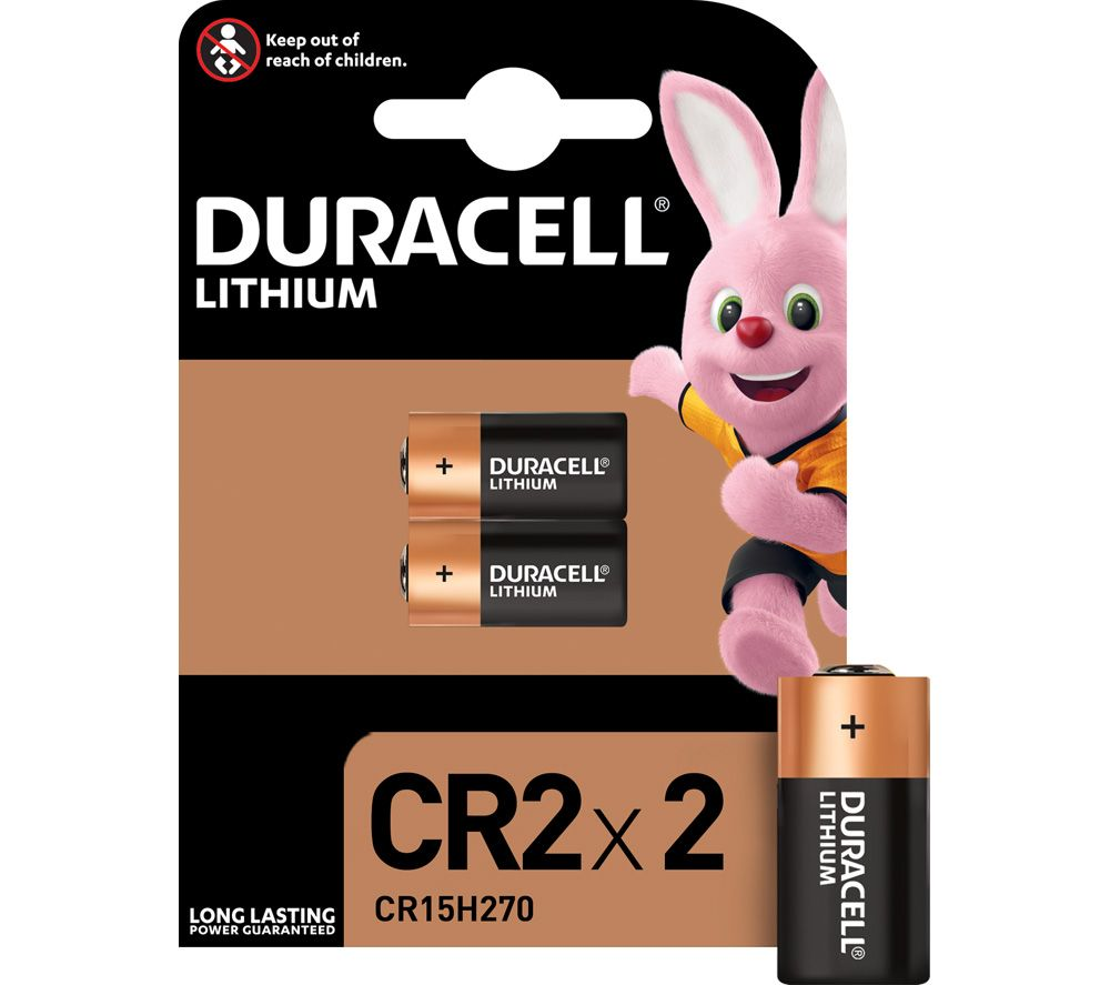 DURACELL Ultra Photo CR2 Batteries - Pack of 2