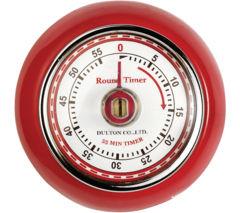 EDDINGTONS Retro Magnetic Kitchen Timer - Red
