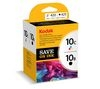 KODAK 10C Tri-colour & 10B Black Ink Cartridge - Twin Pack