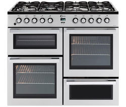 FLAVEL MLN10FRS Dual Fuel Range Cooker - Silver & Chrome Best Price, Cheapest Prices