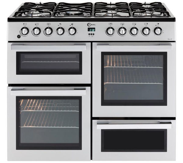 Buy Flavel Mln10frs Dual Fuel Range Cooker Silver