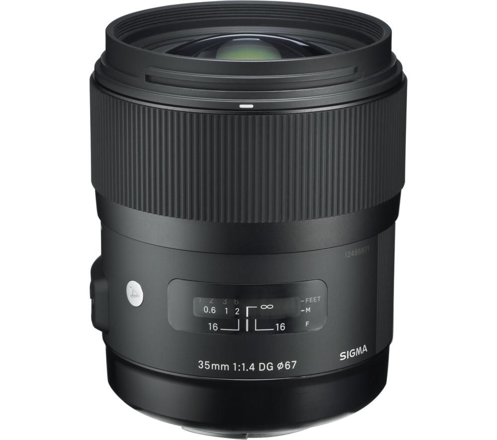 SIGMA 35 mm f/1.4 DG HSM A Standard Prime Lens - for Canon