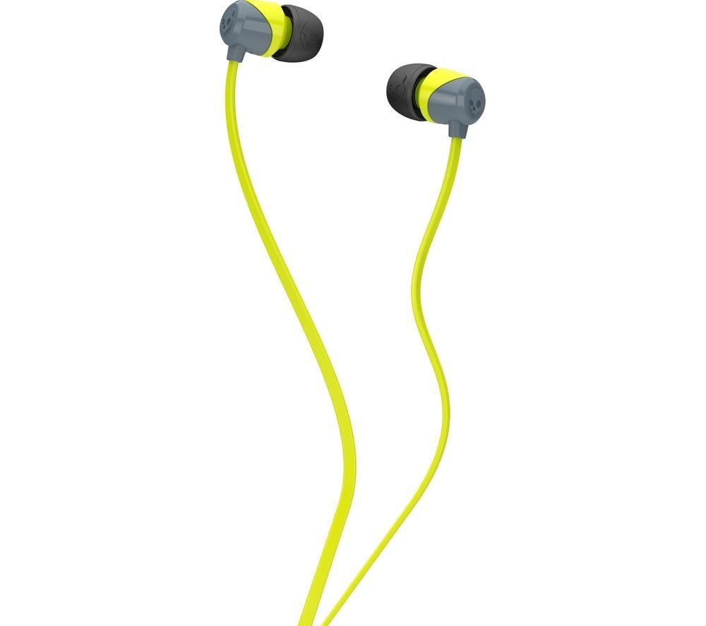 SKULLCANDY Jib Headphones - Grey & Hot Lime