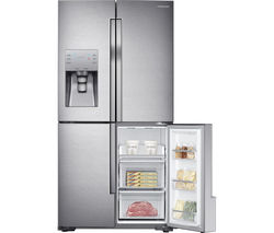 SAMSUNG RF56J9040SR/EU American-Style Fridge Freezer - Real Stainless Best Price, Cheapest Prices