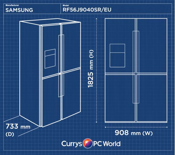 Buy Samsung Rf56j9040sr Eu American Style Fridge Freezer