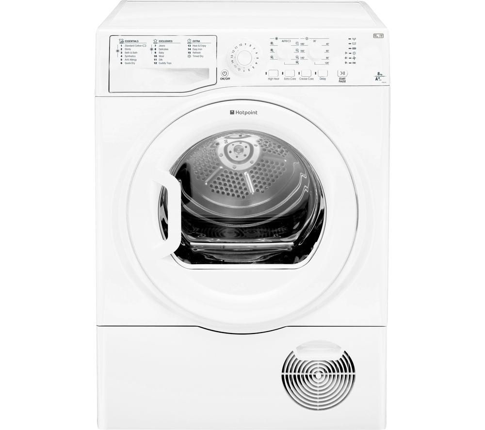 HOTPOINT Aquarius FTCL871GP Heat Pump Tumble Dryer - White + WMFUG742P SMART Washing Machine - White