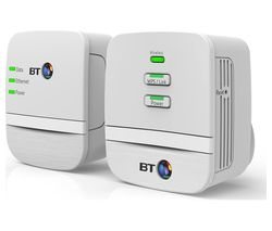 BT Mini Home Hotspot 600 Wireless Powerline Adapter Kit - Twin Pack