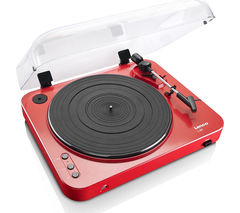LENCO L-85 Turntable - USB, Red
