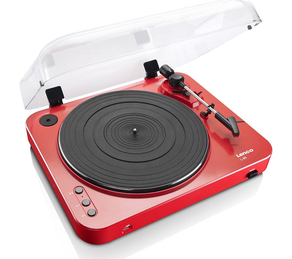 LENCO L-85 Belt Drive Turntable - Red
