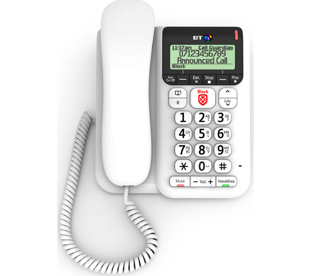 BT Décor 2600 Corded Phone with Answering Machine