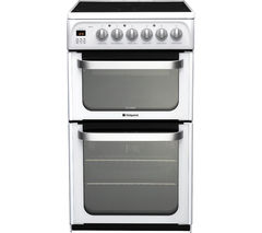 HOTPOINT Ultima HUE53PS Electric Ceramic Cooker - White Best Price, Cheapest Prices