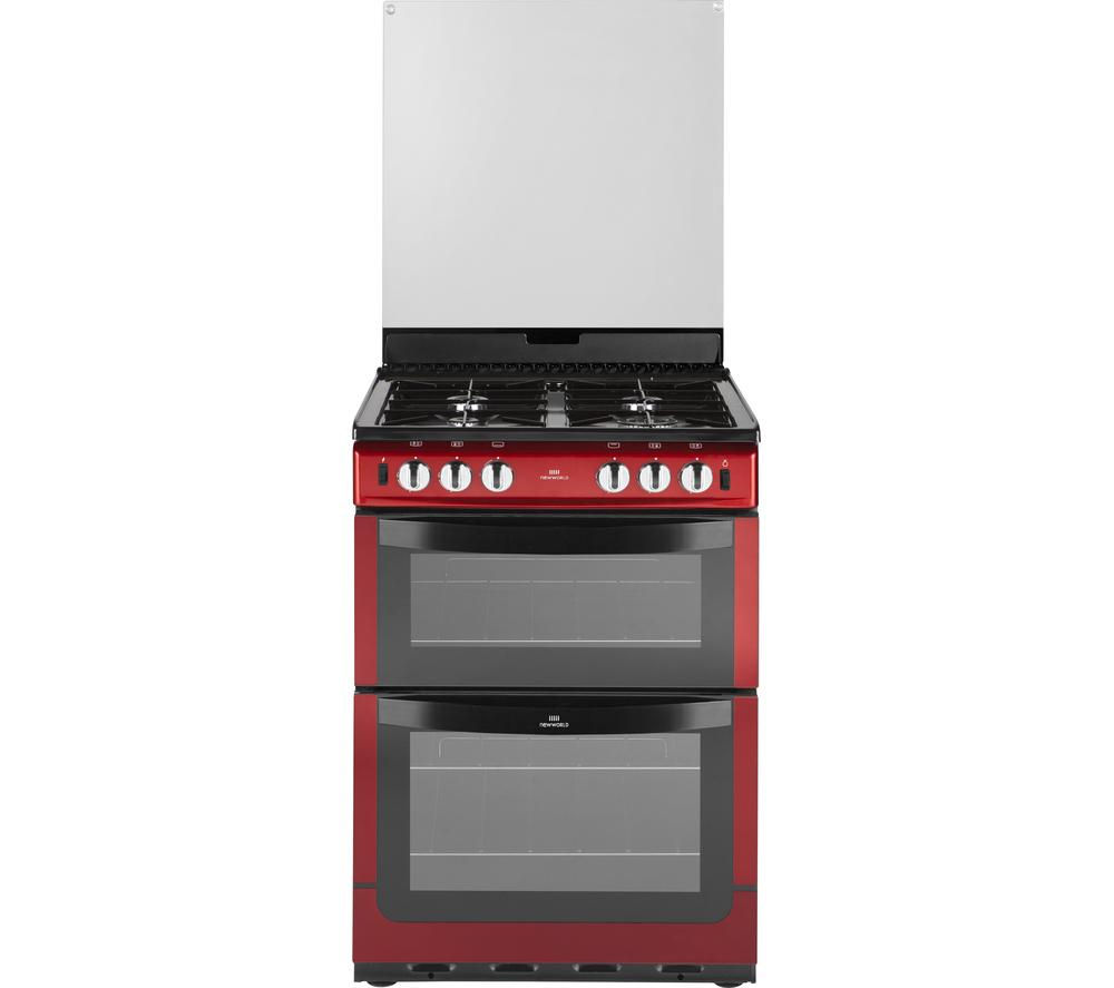 NEW WLD NW601GTCL 60cm Gas Cooker - Metallic Red, Red