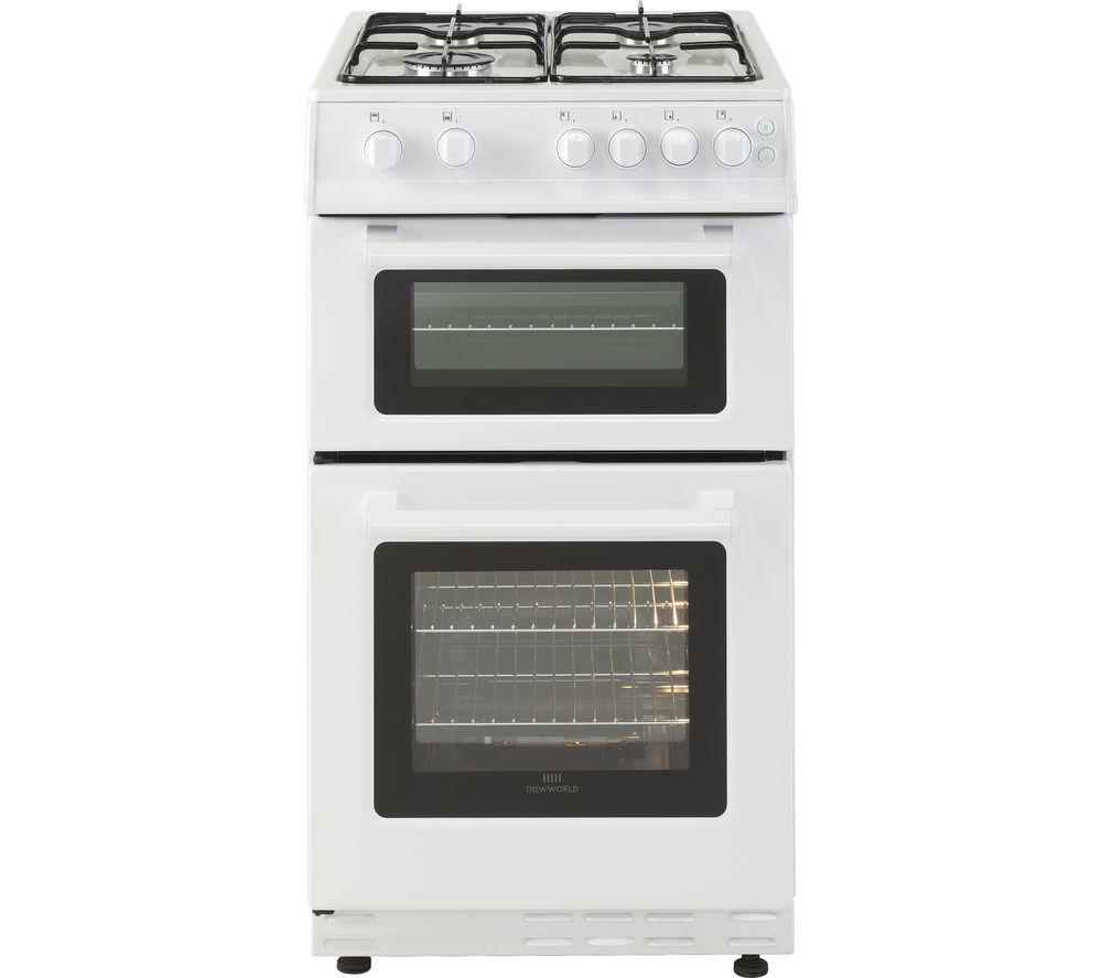 NEW WORLD 50GTC 50 cm Gas Cooker - White, White