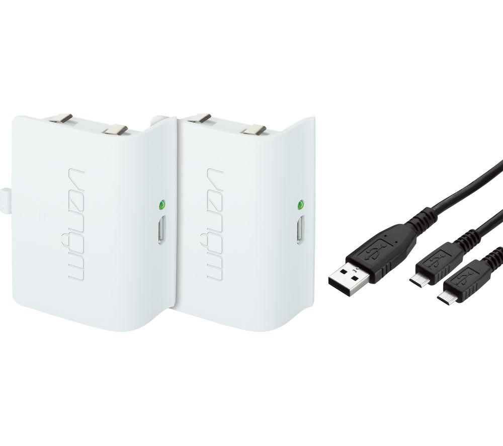 VENOM Xbox One Twin Rechargeable Battery Packs - White
