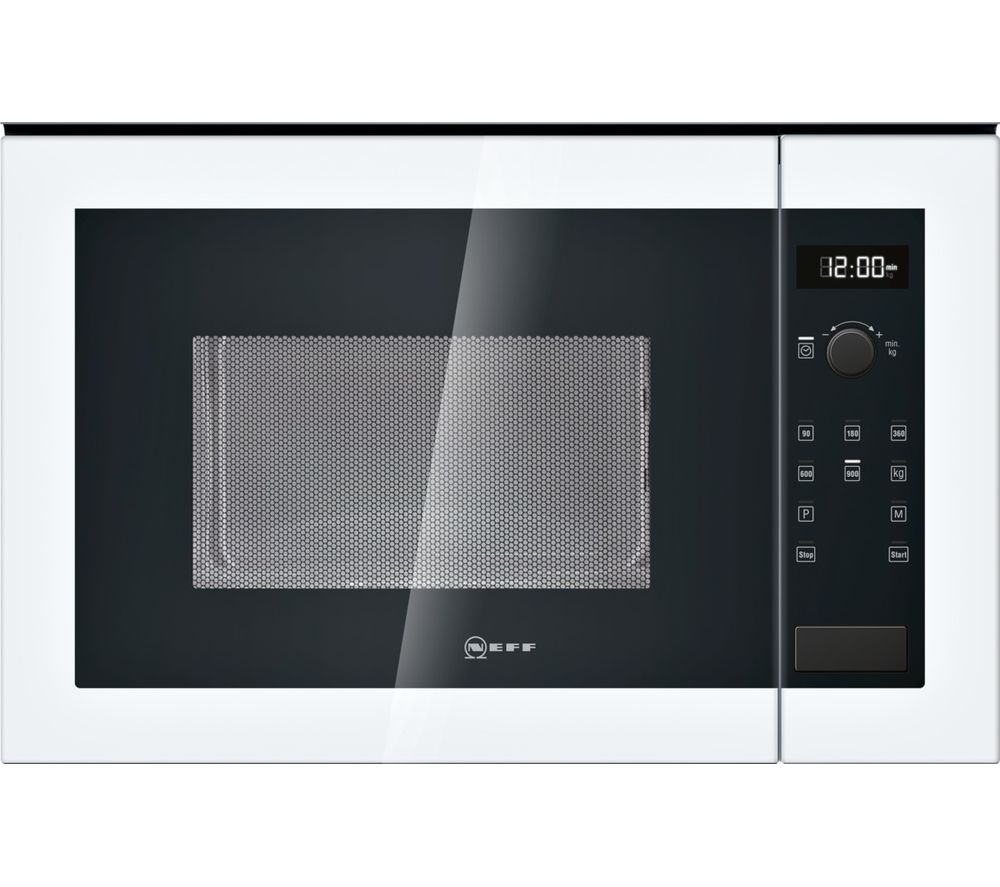 NEFF H12WE60W0G Built-in Solo Microwave - White