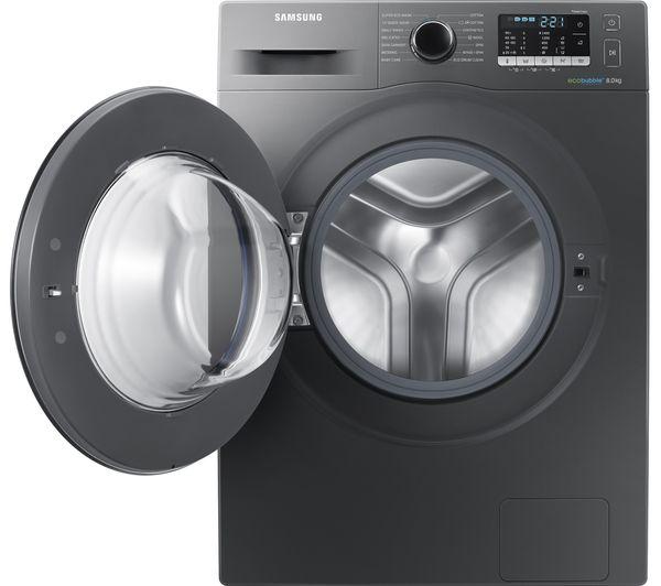 SAMSUNG ecobubble WW80J5555FX/EU 8 kg 1400 Spin Washing Machine - Graphite