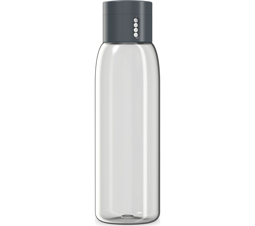 JOSEPH JOSEPH Dot Hydration Tracking 600 ml Water Bottle - Grey