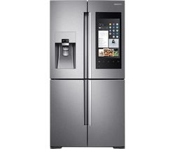 SAMSUNG Family Hub RF56M9540SR/EU American-Style Smart Fridge Freezer - Real Stainless