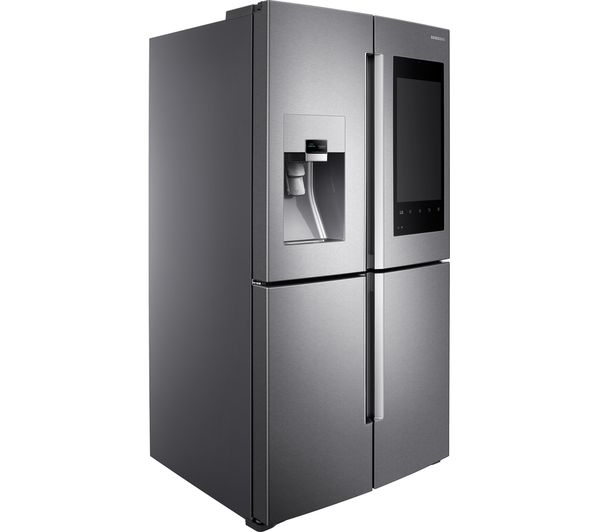 SAMSUNG Family Hub RF56M9540SR/EU American-Style Smart Fridge Freezer -  Real Stainless