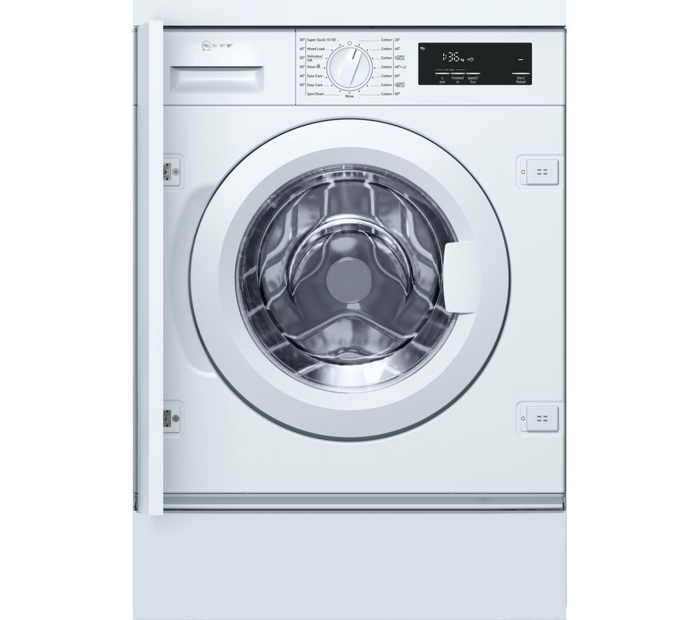 NEFF W543BX0GB Integrated 8 kg 1400 Spin Washing Machine - White