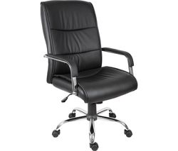 TEKNIK Kendal 6901BLK Faux-leather Reclining Executive Chair - Black