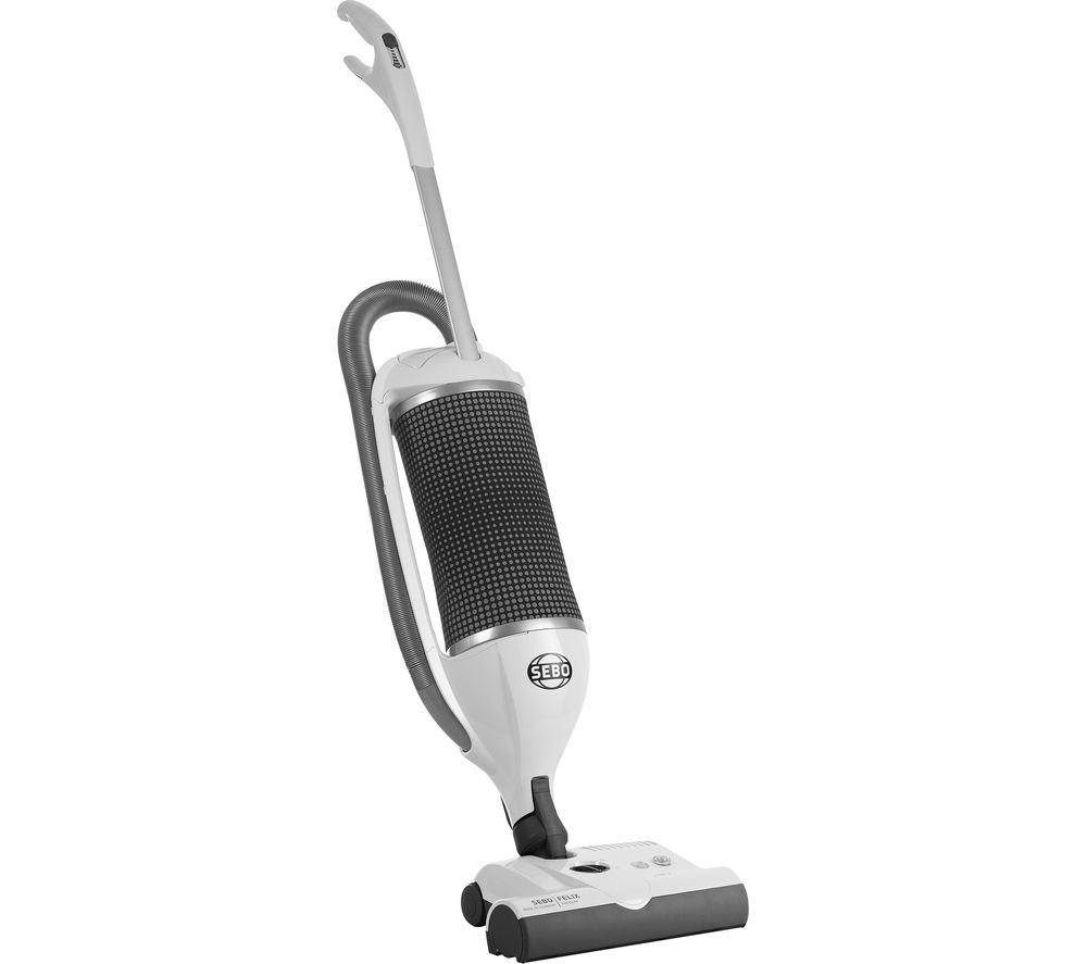 SEBO 9849GB Upright Vacuum Cleaner - Arctic White & Dark Grey