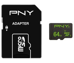PNY High Performance Class 10 microSD Memory Card - 64 GB