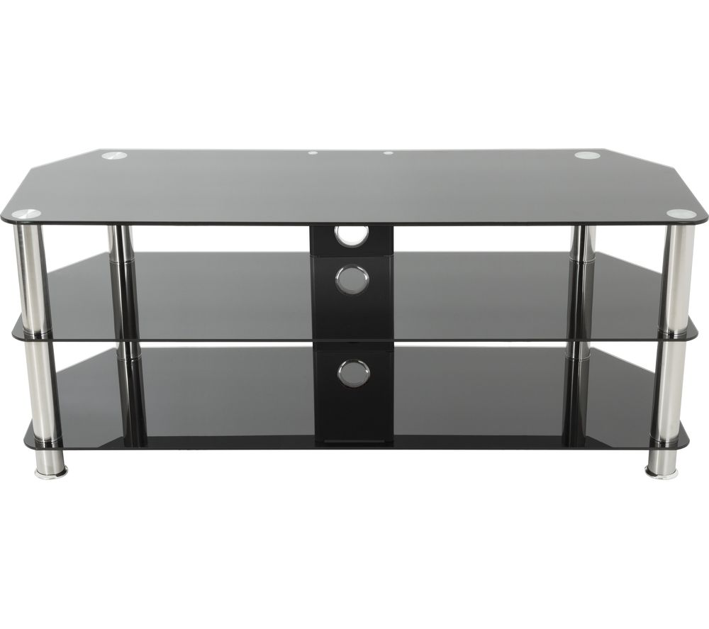 AVF SDC1250CM TV Stand - Black & Chrome