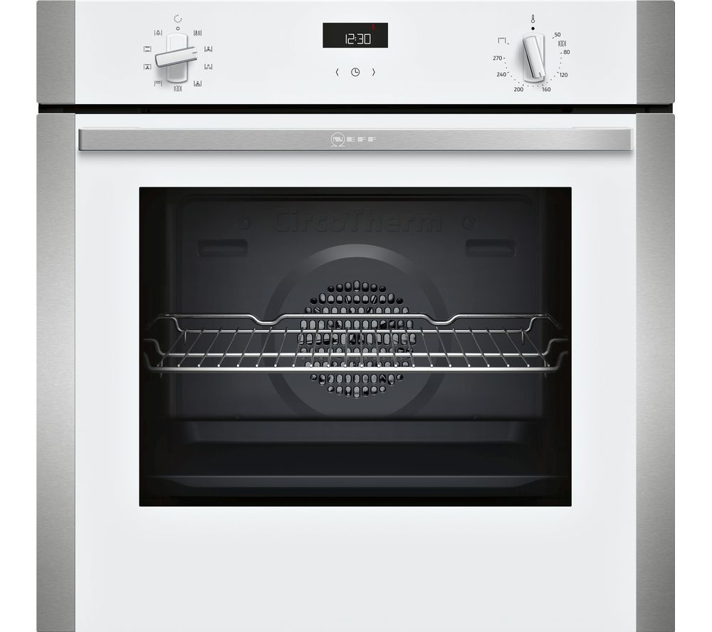 Neff B1ace4hw0b Electric Oven White White 509 00 Bluewater