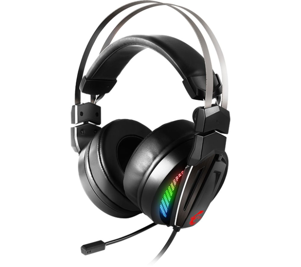 msi immerse gh70 7 1 gaming headset black deals pc world. Black Bedroom Furniture Sets. Home Design Ideas