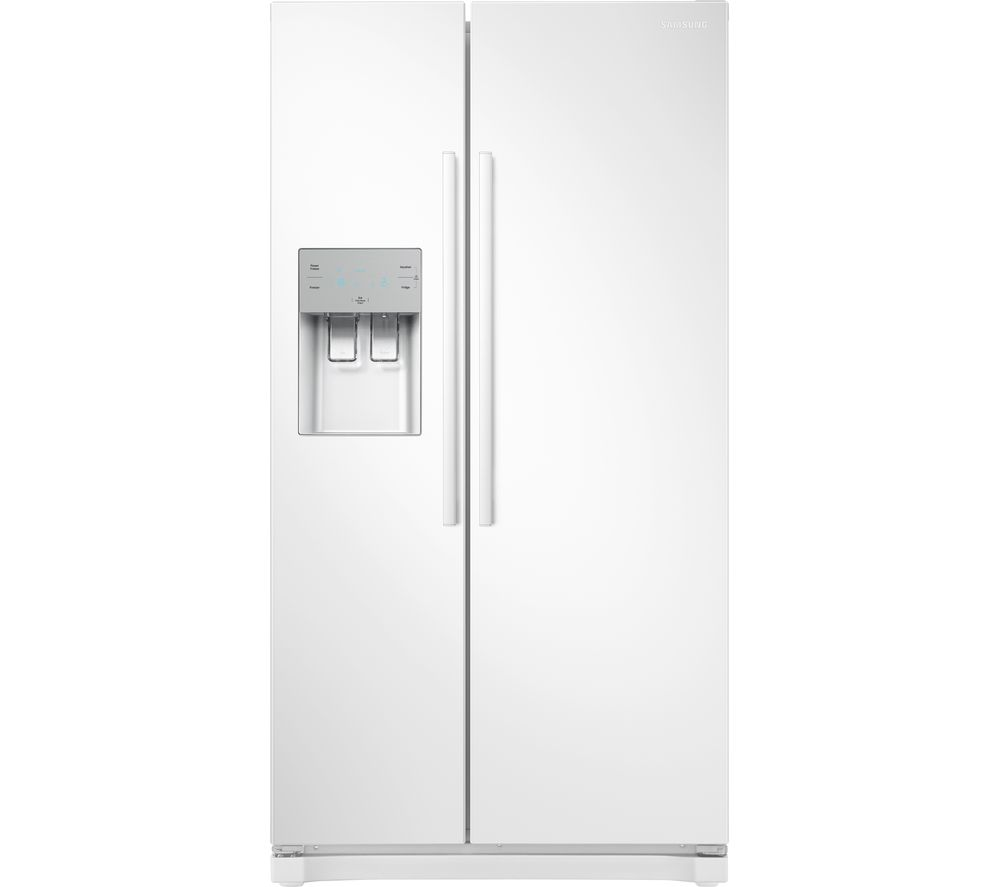 SAMSUNG RS3000 RS50N3513WW/EU American-Style Fridge Freezer - White