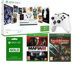 MICROSOFT Xbox One with Game Pass, Mafia III, Killer Instinct, Wireless Controller & Live Gold Membership x 2 Bundle