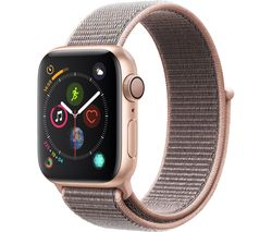 APPLE Watch Series 4 - Gold & Pink Sand Sports Loop, 40 mm