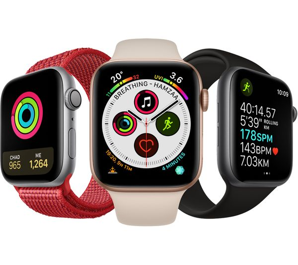 uk availability 8b28a e1953 APPLE Watch Series 4 - Gold & Pink Sand Sports Loop, 40 mm