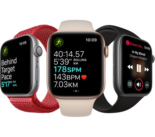 uk availability 845c8 7a28f APPLE Watch Series 4 - Gold & Pink Sand Sports Loop, 40 mm