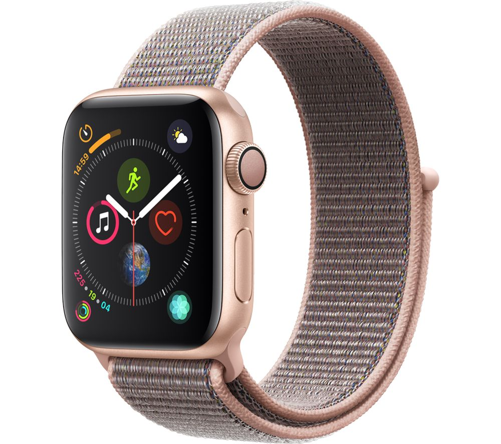 Watch Series 4 - Gold & Pink Sand Sports Loop, 40 mm
