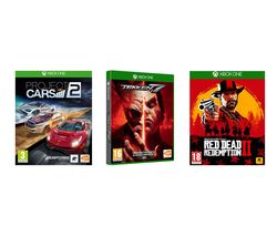 XBOX ONE Red Dead Redemption 2, Tekken 7 & Project Cars 2 Bundle
