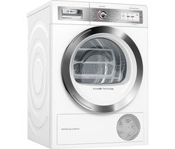 BOSCH Serie 8 WTYH6791GB Smart 9 kg Heat Pump Tumble Dryer - White