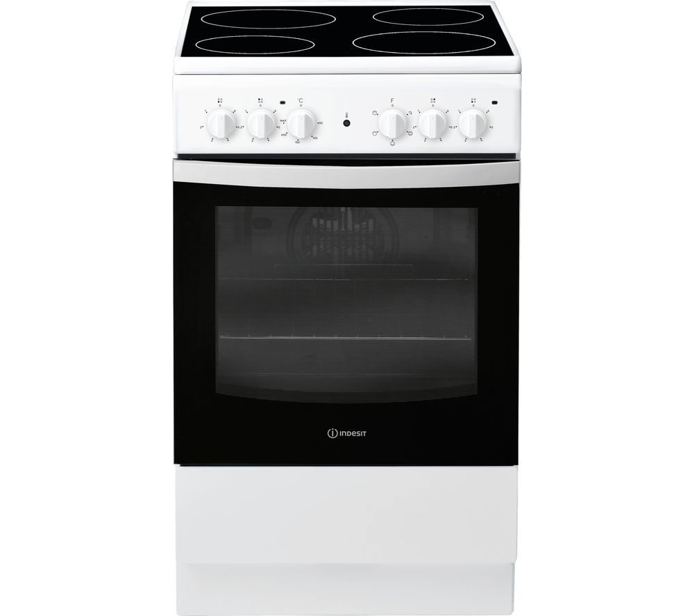 INDESIT IS5V4KHW 50 cm Electric Ceramic Cooker - White