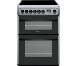 HOTPOINT DCN60S 60 cm Electric Ceramic Cooker - Silver Best Price, Cheapest Prices
