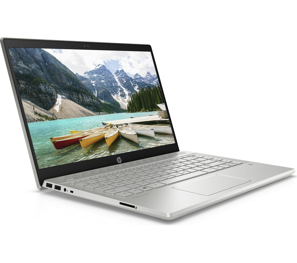 "Image of HP Pavilion 14-ce0525sa 14"" Laptop - Intel®Pentium Gold, 128 GB SSD, Silver, Gold"