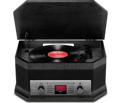 Octave LP Belt Drive Bluetooth 8-in-1 Music Centre - Black