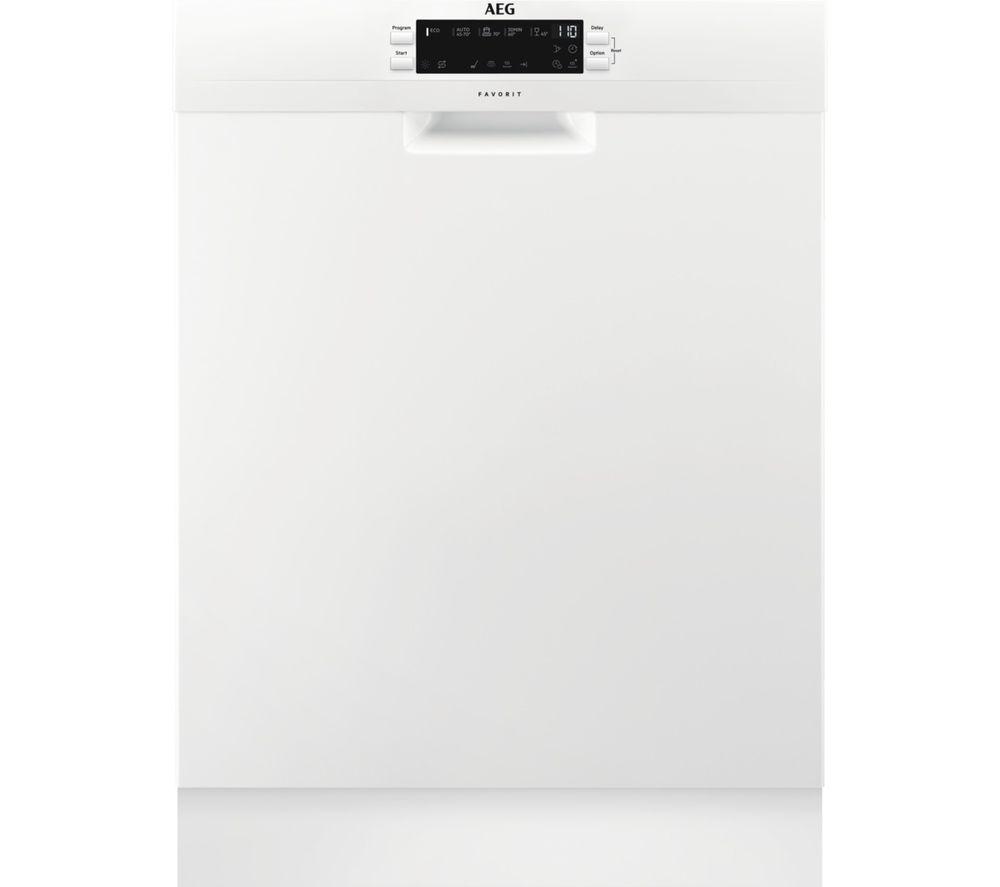 AEG FFB53940ZW Full-size Dishwasher - White, White